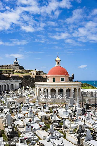 dome from santa maria magdalena de pazzis cemetery, puerto rico - ogphoto stock photos and pictures