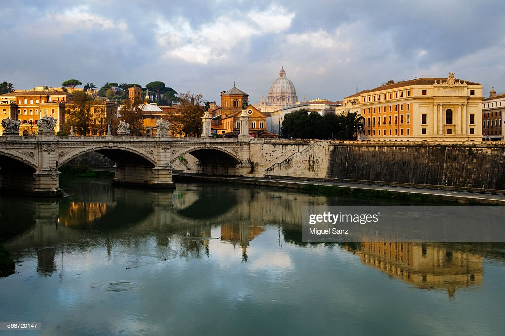 Dome of Basilica of St. Peter of Vatican and Rome : Stock Photo