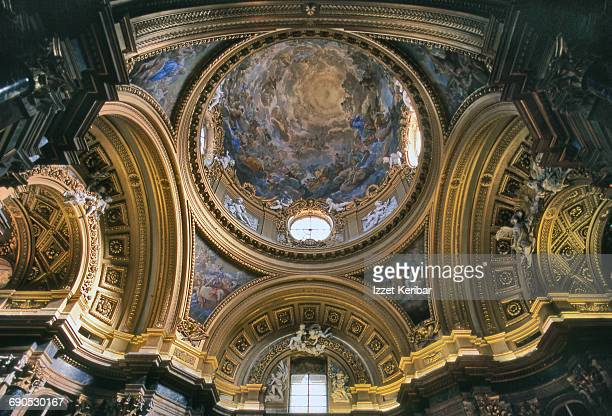 Dome of  chapel , Royal Palace Madrid Spain