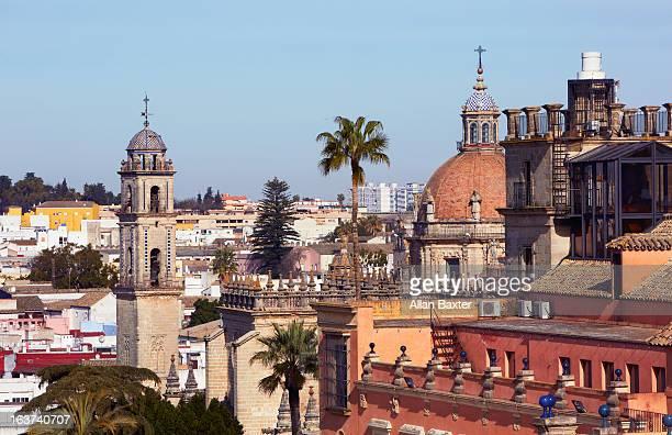 dome of jerez de la frontera cathedral - jerez de la frontera stock pictures, royalty-free photos & images