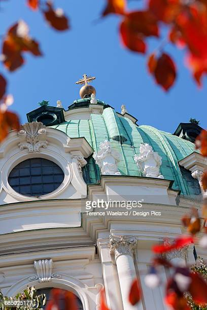 dome of karlskirche - terence waeland stock pictures, royalty-free photos & images