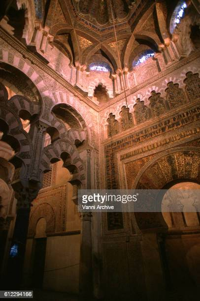 Dome of Mihrab in Mosque of Cordoba