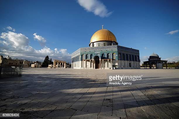 Dome of Rock is seen after its interior restoration works completed in Jerusalem on November 30, 2016. Dome of Rock's interior restoration has been...