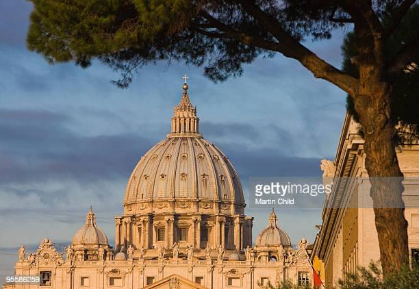 dome of saint peter's basilica - cúpula fotografías e imágenes de stock