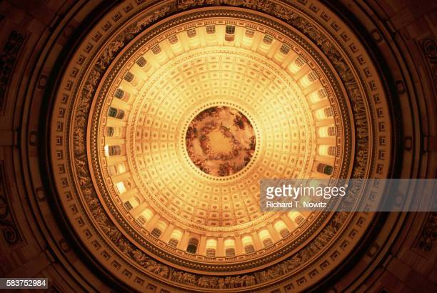 dome of the capitol - united states capitol rotunda stock pictures, royalty-free photos & images