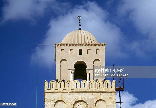 Dome of the minaret of the Mosque of 'Uqba or Great Mosque of Kairouan Kairouan Governorate Tunisia 9th century