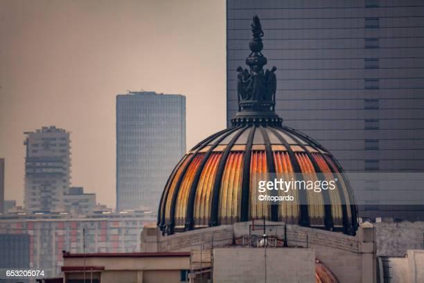 Dome of the Palacio de Bellas Artes from the distance