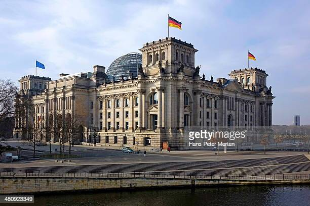 dome of the reichstag building, berlin, germany - bundestag stock pictures, royalty-free photos & images