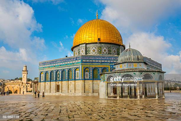 dome of the rock in jersulalem - jerusalén fotografías e imágenes de stock