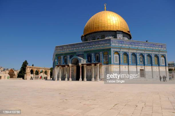 dome of the rock of jerusalem - east jerusalem stock pictures, royalty-free photos & images