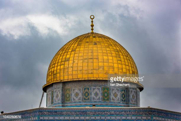 Dome of the rock on top of Temple Mount in Jerusalem