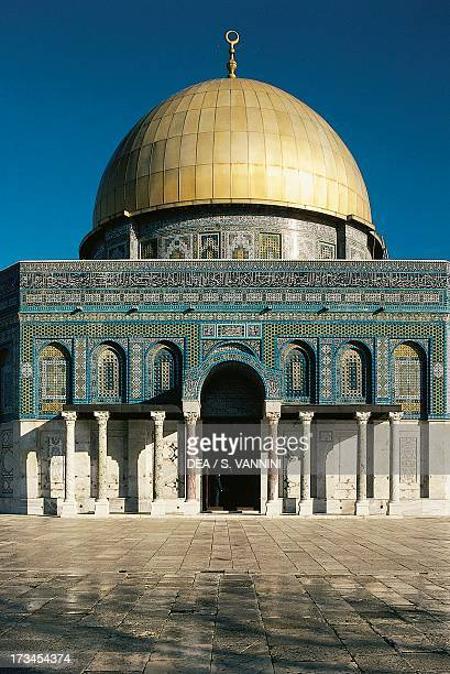 Dome of the Rock or Masjid AlQubba Old City of Jerusalem Israel Detail