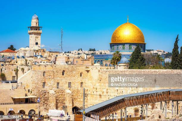 dome of the rock - jericho stock photos and pictures