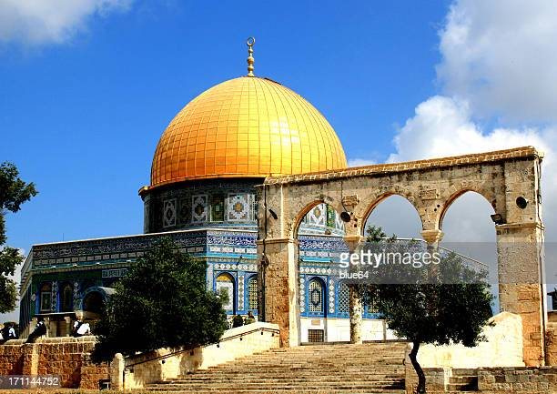 dome of the rock, temple mount, jerusalem - dome of the rock stock pictures, royalty-free photos & images