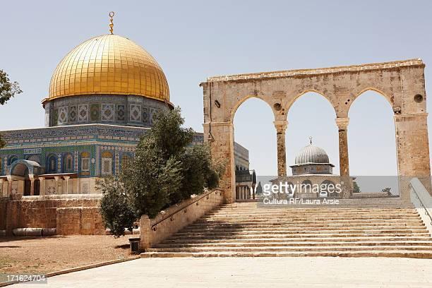 dome of the rock, temple mount, old city, jerusalem, israel - jerusalem antiga imagens e fotografias de stock