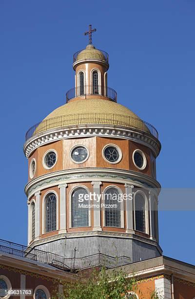 dome of the tindari sanctuary, sicily - massimo pizzotti foto e immagini stock