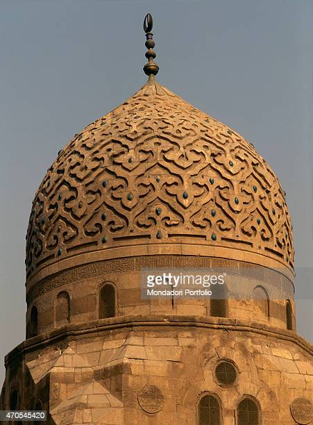 'Dome of the Tomb of Amir Azrumuk by Mamluk craftsmen 16th Century sandstone Egypt Cairo Mamluk Necropolis Whole artwork view Sight of the large dome...