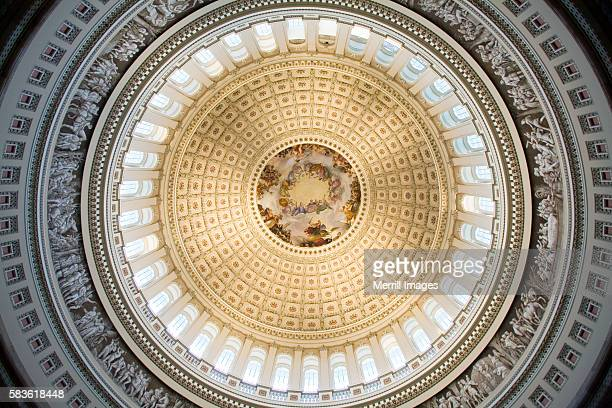 dome of the u.s. capitol rotunda - capitol hill stock pictures, royalty-free photos & images