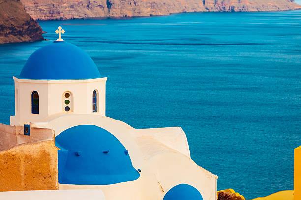 Domed church in Oia, Santorini, Greece