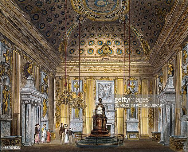 Domed room engraving by Thomas Sutherland based on a design by Richard Cattermole from The History of the Royal Residences 18161819 Volume II...