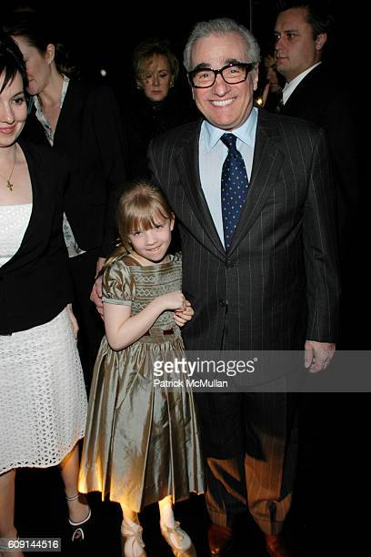 Domenica CameronScorsese Francesca Scorsese and Martin Scorsese attend GIORGIO ARMANI Prive in Los Angeles at Private Residence on February 24 2007...