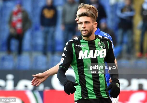 Domenico Berardi during the Serie A match between UC Sampdoria and US Sassuolo at Stadio Luigi Ferraris on December 17 2017 in Genoa Italy