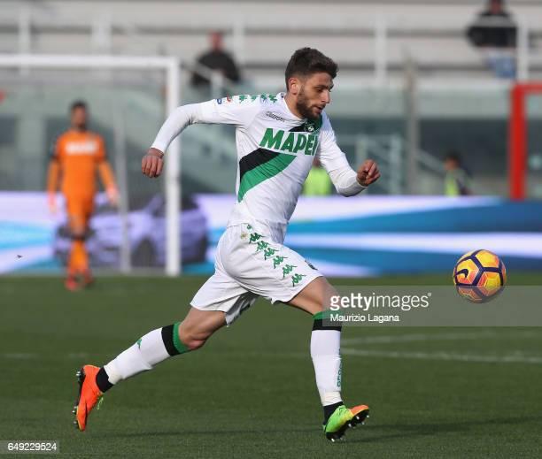 Domenico Berardi of Sassuolo during the Serie A match between FC Crotone and US Sassuolo at Stadio Comunale Ezio Scida on March 5 2017 in Crotone...