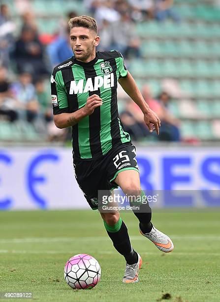 Domenico Berardi of Sassuolo in action during the Serie A match between US Sassuolo Calcio and AC Chievo Verona at Mapei Stadium Città del Tricolore...
