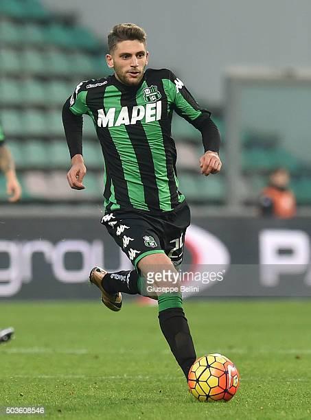 Domenico Berardi of Sassuolo in action during the Serie A match between US Sassuolo Calcio and Frosinone Calcio at Mapei Stadium Città del Tricolore...