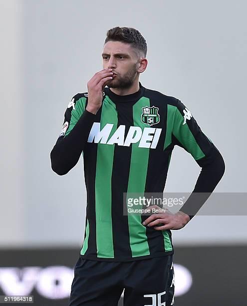 Domenico Berardi of Sassuolo in action during the Serie A match between US Sassuolo Calcio and Empoli FC at Mapei Stadium Città del Tricolore on...