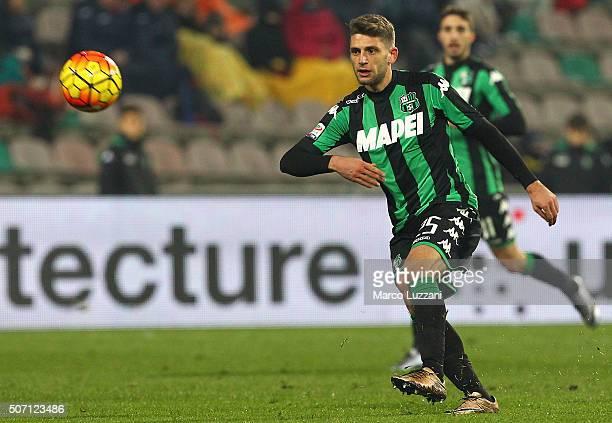 Domenico Berardi of US Sassuolo Calcio in action during the Serie A match betweeen US Sassuolo Calcio and Torino FC at Mapei Stadium Città del...
