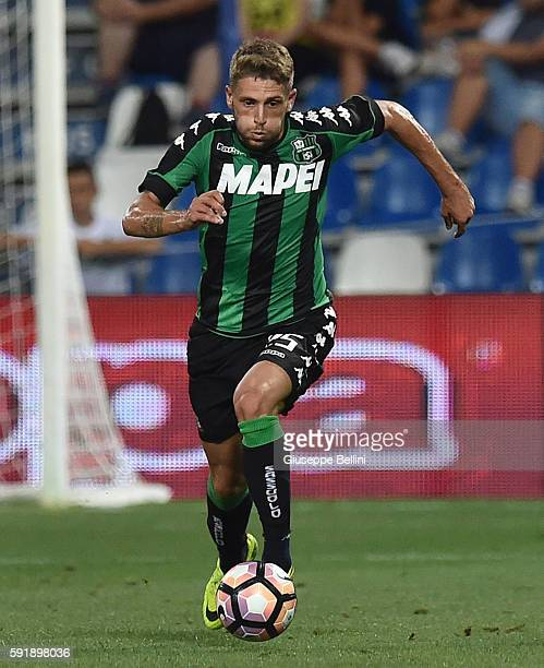 Domenico Berardi of US Sassuolo during the UEFA Europa League playoff match between US Sassuolo and Fk Crvena Zvezda at Mapei Stadium Citta' del...