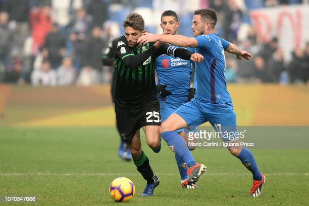 Domenico Berardi of US Sassuolo in action during the Serie A match between US Sassuolo and ACF Fiorentina at Mapei Stadium Citta' del Tricolore on...