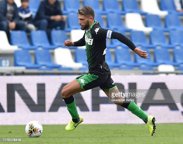 Domenico Berardi of US Sassuolo in action during the Serie A match between US Sassuolo and SPAL at Mapei Stadium Città del Tricolore on September 22...