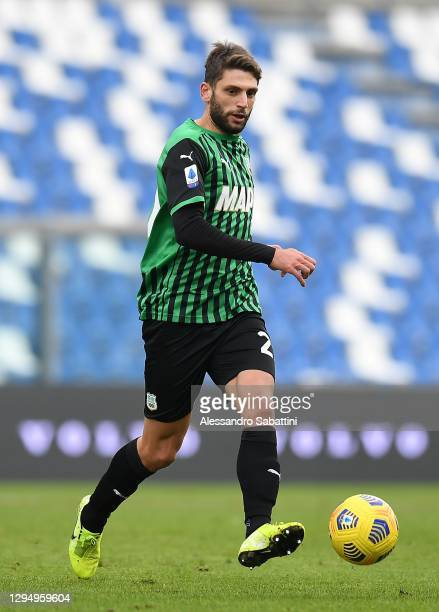Domenico Berardi of US Sassuolo in action during the Serie A match between US Sassuolo and Genoa CFC at Mapei Stadium - Città del Tricolore on...