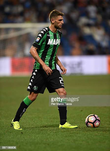 Domenico Berardi of US Sassuolo in action during the Serie A match between US Sassuolo and Pescara Calcio at Mapei Stadium Citta' del Tricolore on...
