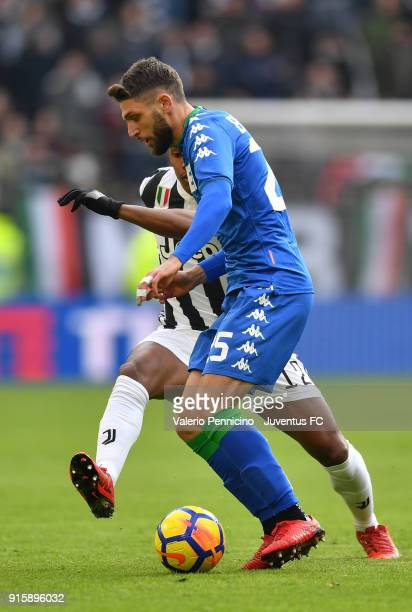Domenico Berardi of US Sassuolo in action during the serie A match between Juventus and US Sassuolo on February 4 2018 in Turin Italy