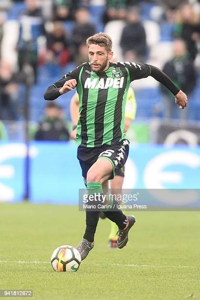 Domenico Berardi of US Sassuolo in action during the serie A match between US Sassuolo and SSC Napoli at Mapei Stadium Citta' del Tricolore on March...