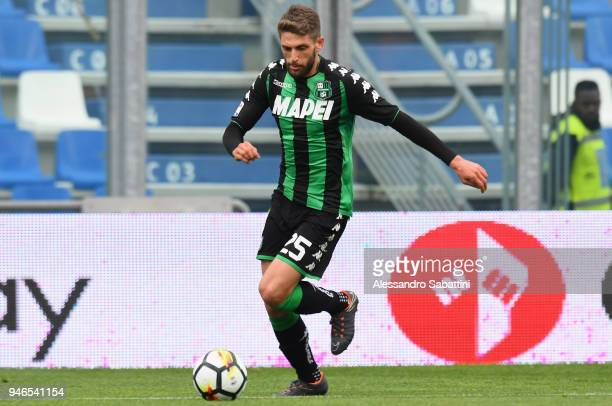 Domenico Berardi of US Sassuolo in action during the serie A match between US Sassuolo and Benevento Calcio at Mapei Stadium Citta' del Tricolore on...