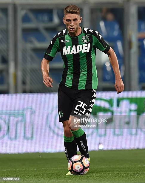 Domenico Berardi of US Sassuolo in action during the Third Qualifying Round Europa League between US Sassuolo and FC Luzern at Mapei Stadium Città...