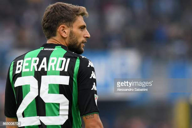 Domenico Berardi of US Sassuolo looks on during the Serie A match betweenSpal and US Sassuolo at Stadio Paolo Mazza on October 22 2017 in Ferrara...