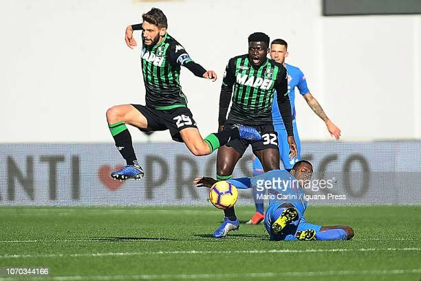 Domenico Berarrdi of US Sassuolo in action during the Serie A match between US Sassuolo and ACF Fiorentina at Mapei Stadium Citta' del Tricolore on...
