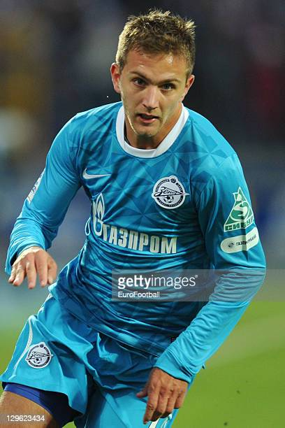 Domenico Criscito of FC Zenit St Petersburg in action during the Russian Premier League match between FC Zenit St Petersburg and FC Dinamo Moskva...