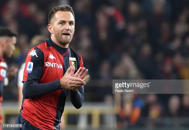 Domenico Criscito of Genoa CFC during the Serie A match between Genoa CFC and US Sassuolo at Stadio Luigi Ferraris on January 5, 2020 in Genoa, Italy.