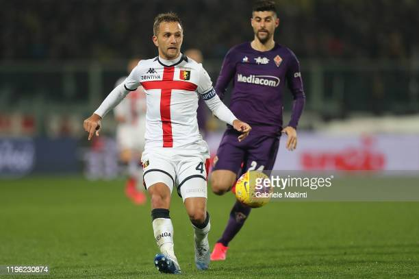 Domenico Criscito of Genoa CFC in action during the Serie A match between ACF Fiorentina and Genoa CFC at Stadio Artemio Franchi on January 25, 2020...