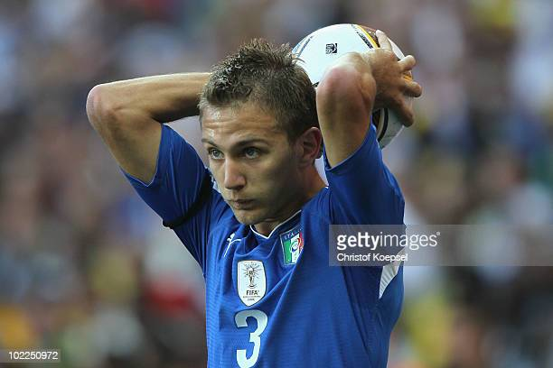 Domenico Criscito of Italy during the 2010 FIFA World Cup South Africa Group F match between Italy and New Zealand at the Mbombela Stadium on June 20...
