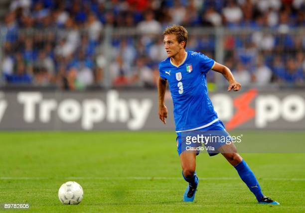 Domenico Criscito of Italy during the friendly match between Switzerland and Italy at St Jakob Stadium on August 12 2009 in Basel Switzerland