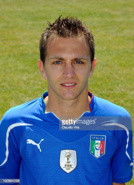 Domenico Criscito of Italy poses during the official Fifa World Cup 2010 portrait session on May 26 2010 in Sestriere near Turin Italy