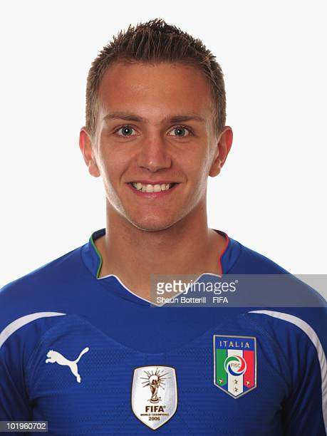 Domenico Criscito of Italy poses during the official FIFA World Cup 2010 portrait session on June 10 2010 in Pretoria South Africa