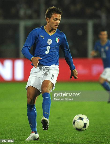 Domenico Criscito of Italyin action during the International Friendly Match between Italy and Sweden at Dino Manuzzi Stadium on November 18 2009 in...